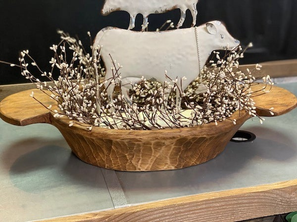Extra Large Round Dough Bowl w/Handles