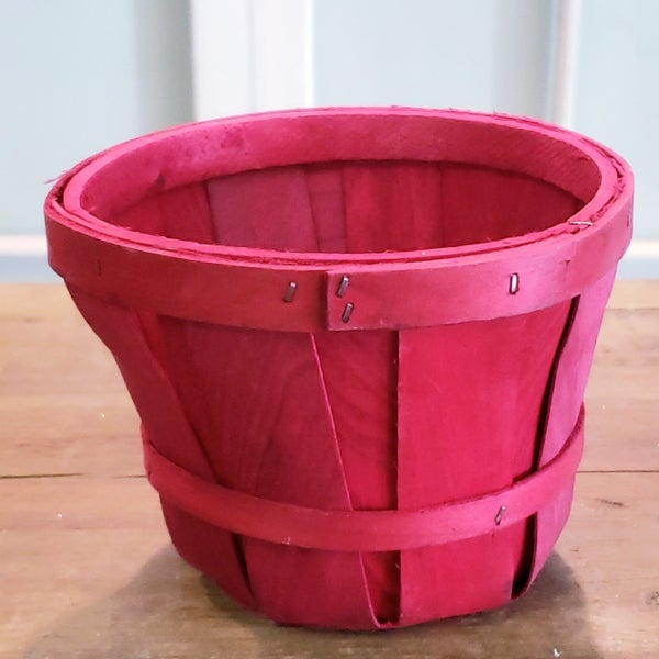 Small Red Corn Husk Basket