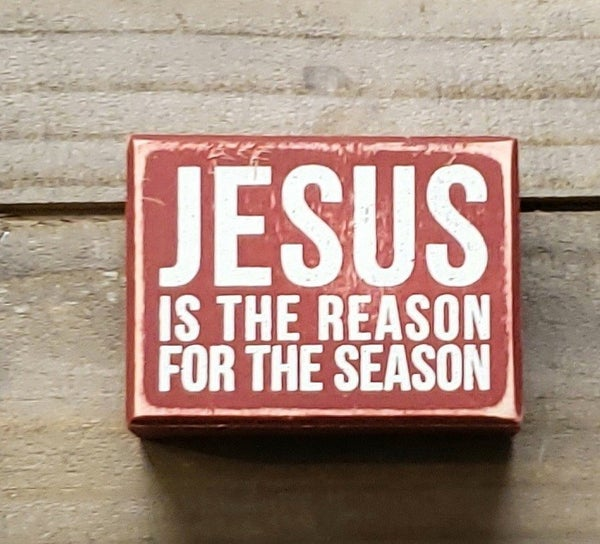 Jesus Reason Red Box Sign