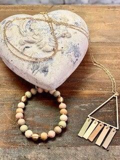 Neutral Beaded Bracelet