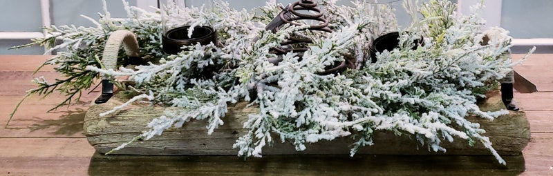 Snowy Cedar Centerpiece