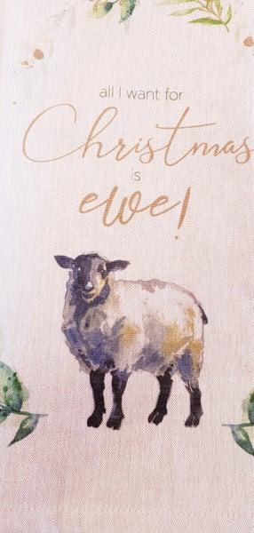 Christmas Ewe Tea Towel