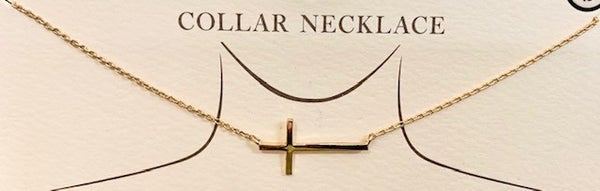 Cross Collar Necklace