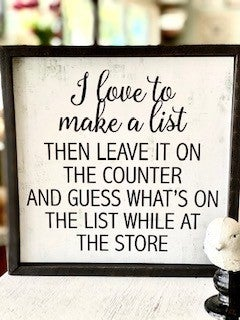 Make A List Sign
