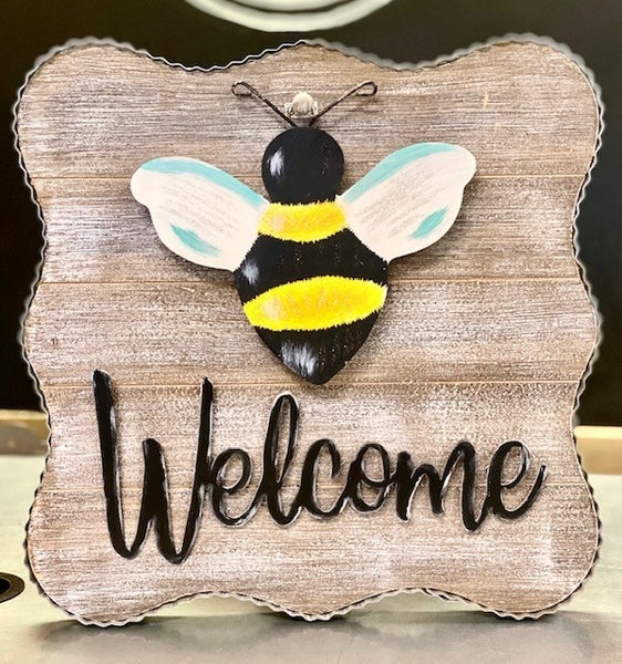 Welcome Wood/Metal Sign