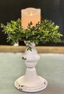 French White Candle Holder