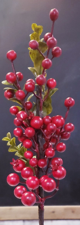Red Berry & Leaf Pick