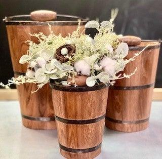 Wooden Buckets w/ Handles