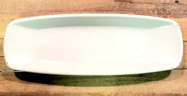 Cream Squared Oval Bowl