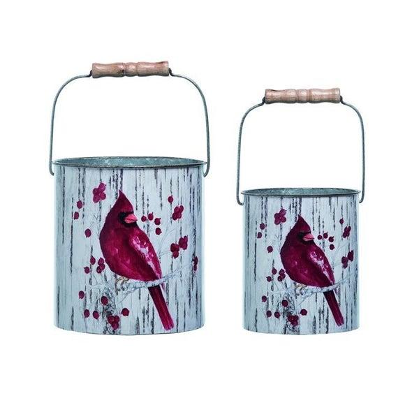 Birch Cardinal Buckets