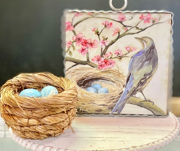 Cherry Blossom and Nest Bird Picture