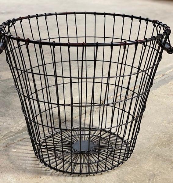Round Wire Basket w/ Wood Handles