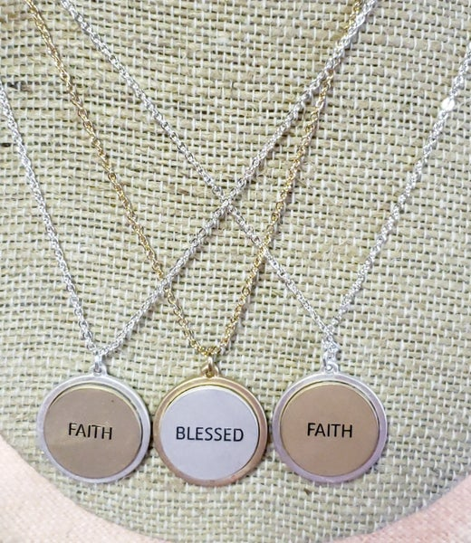 Two Toned Spiritual Necklace