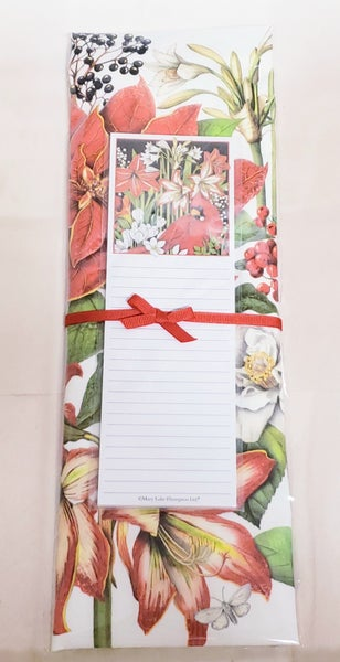 Cardinal w/ Flowers Tea Towel & Notepad Set