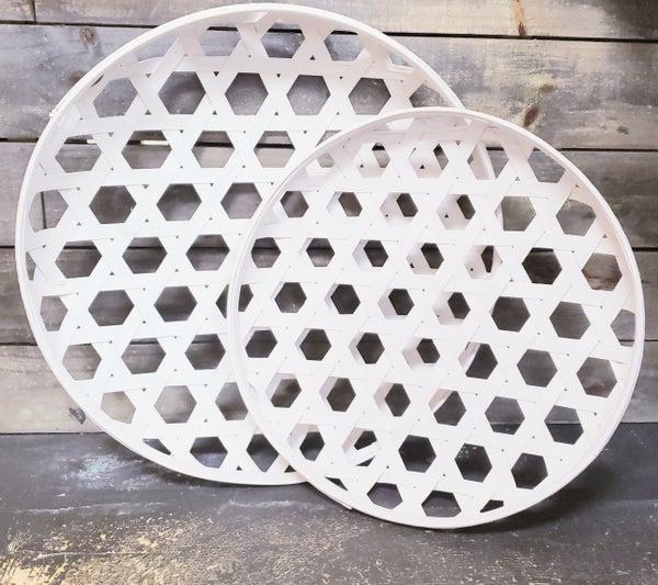 Chippy White Round Tobacco Baskets