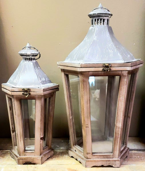 Brown Metal Lantern LOCAL PICK UP ONLY