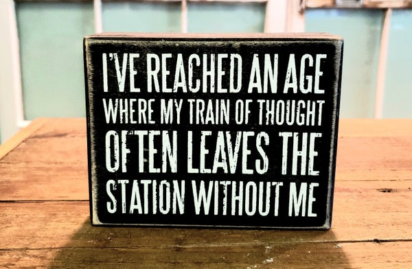 Reached An Age Box Sign