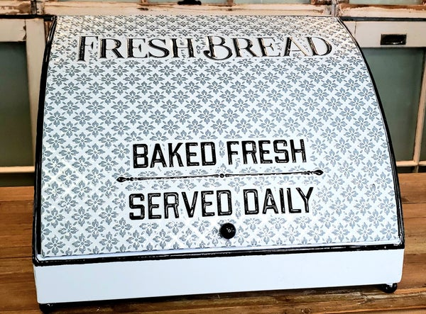Enamel Fresh Bread Box