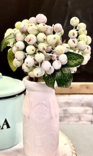 Seafoam Berry Stems (Group of 3)