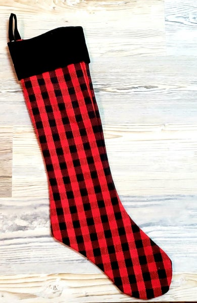 Red & Black Check Stocking