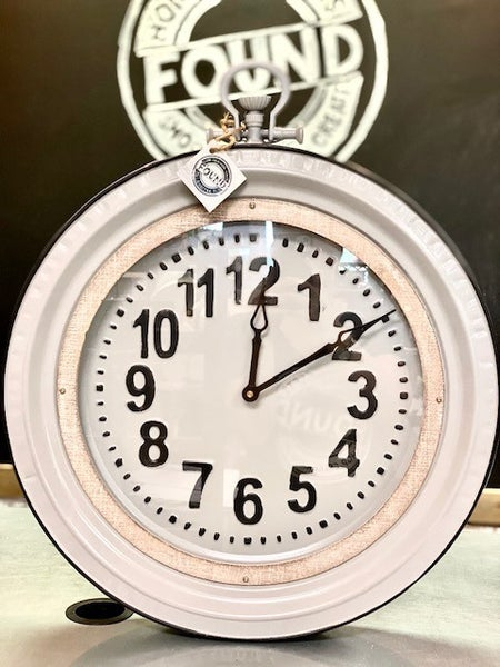Grey Enamel Clock