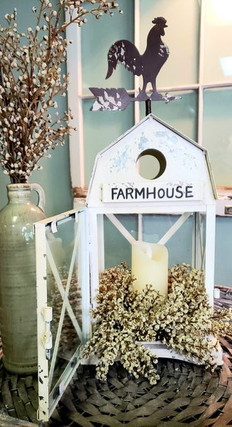 Metal Farmhouse Lantern