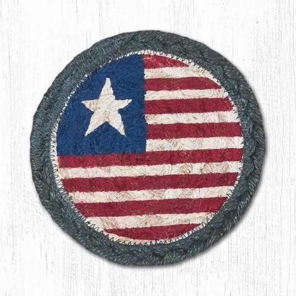 American Flag Jute Mug Mat Set