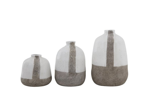Grey Lined Vases