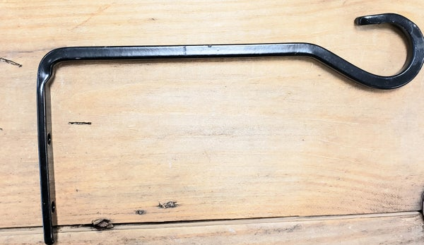 Black Rought Iron Wall Hook