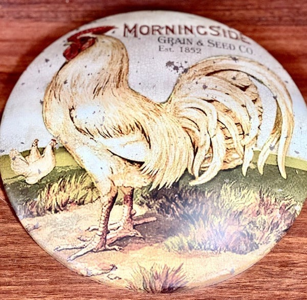 Round Rooster Sign