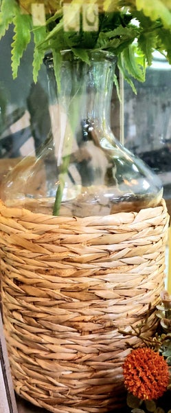 Seagrass Wrapped Vase