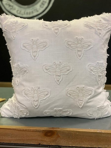 White Bee Pillow