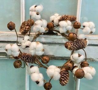 Cotton w/ Bells Wreath