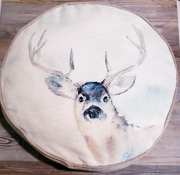 Round Reindeer Pillow