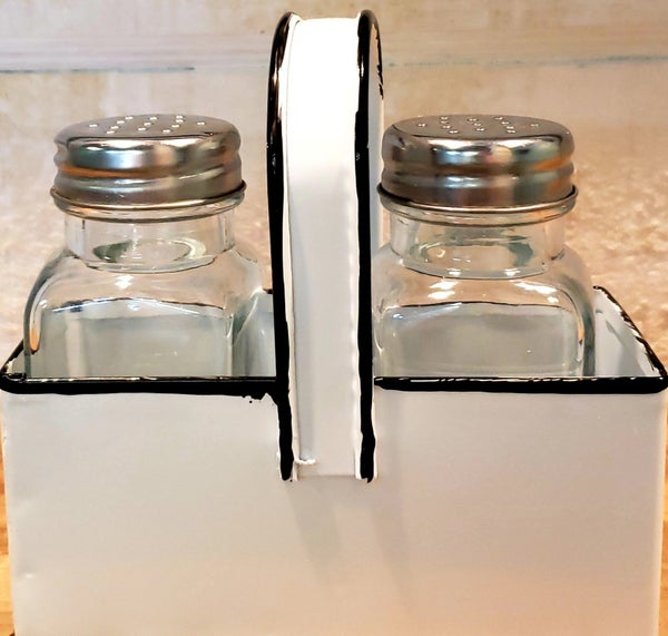Enamel Salt & Pepper Set