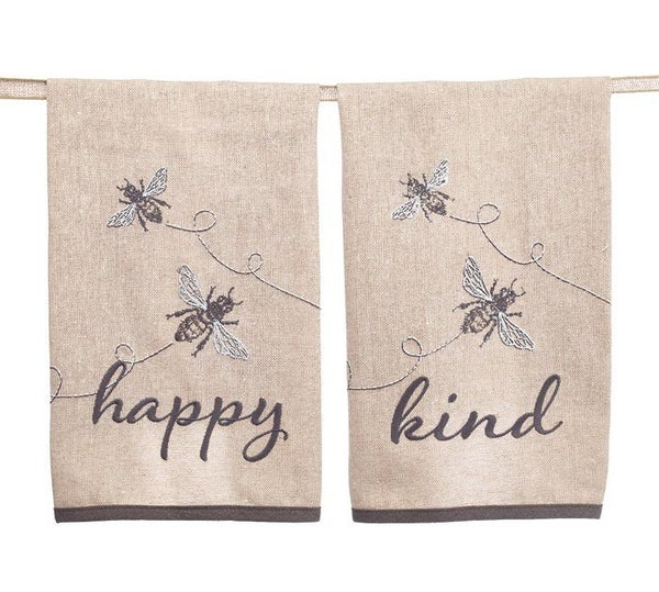 Bee Happy Bee Kind Tea Towel
