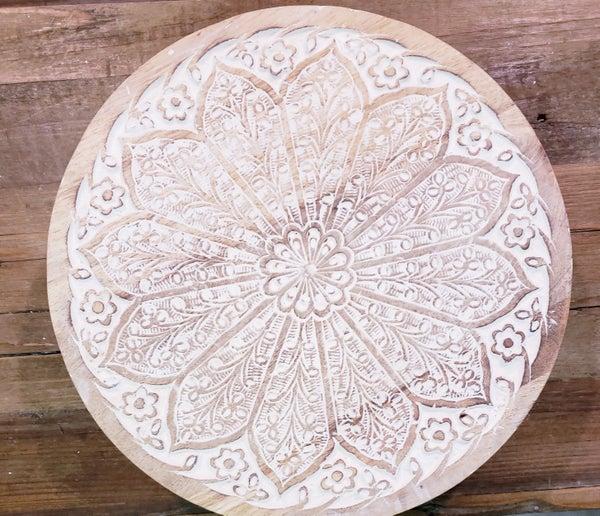 Round Flower Medallion Tray