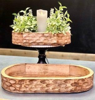 Oval Carved Bowls