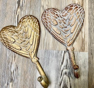 Heart Angel Wing Hooks