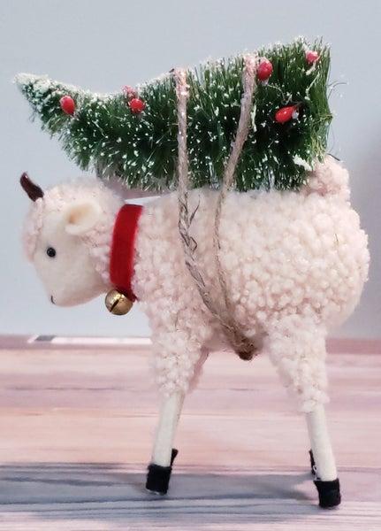 Lamb w/ Christmas Tree