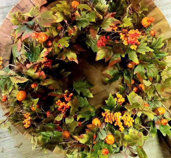 Pumpkin & Berry Wreath