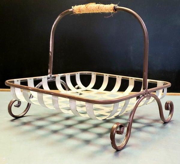 Edison Basket w/ Scroll Feet