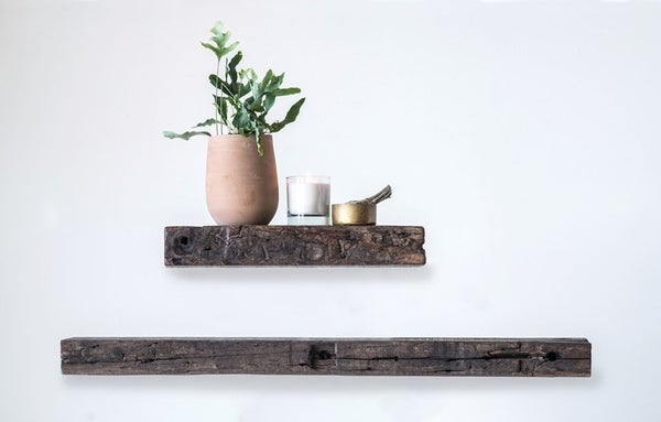 LOCAL PICKUP ONLY Large Reclaimed Wood Wall Shelf