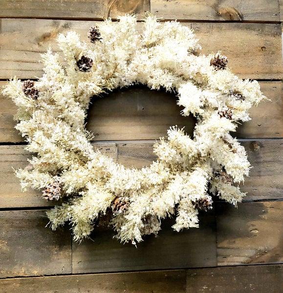 Vintage Flocked Wreath