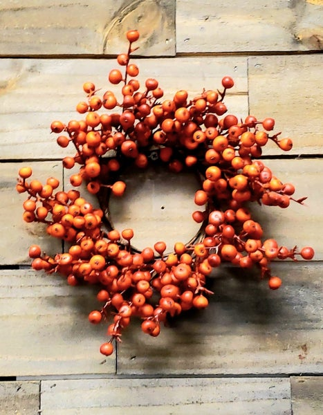 Orange Berry Candle Ring