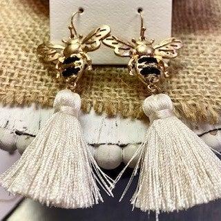 Bee Tassel Earrings
