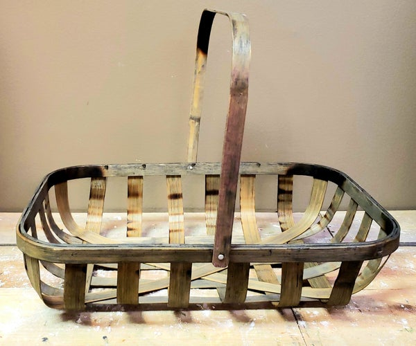 Rectangular Tobacco Basket w/ Handle