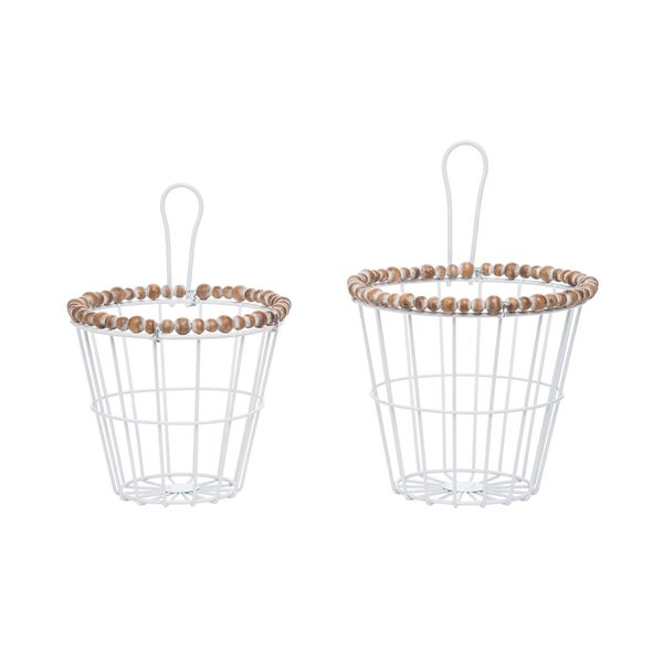 Beaded Wire Baskets