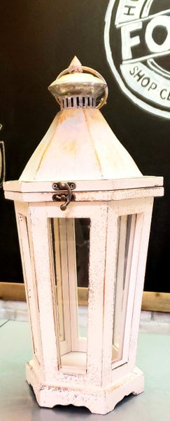 White Metal Lanterns LOCAL PICK UP ONLY