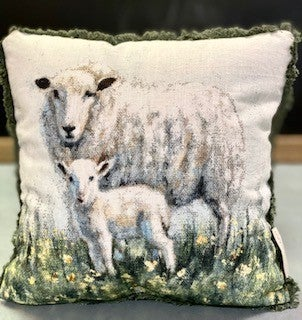 Mama Baby Sheep Pillow